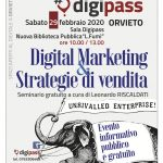 "Al Digipass seminario gratuito di ""Digital Marketing e Strategie di Vendite"" per le PMI del territorio"